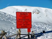 Avalanche Blasting Warning