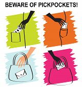 Set of pickpockets icons