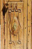 Wooden Door With Door Knocker