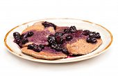 Oatmeal Pancakes Buleberries