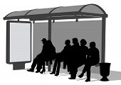 drawing crowds at public transport stop