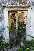Doorway To An Abandoned Village At Gornja Nakovana poster