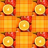 Orange Yellow Plaid