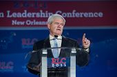 NEW ORLEANS, LA - JUNE 16: Presidential candidate Newt Gingrich addresses the Republican Leadership