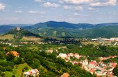 picture of banska  - view of the historic mining town of Banska Stiavnica - JPG