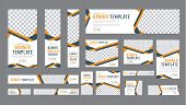 Set Of Web Banners Of Standard Size With A Place For Photos poster