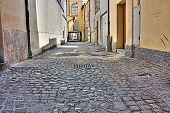 stock photo of porphyry  - grunge dark alley in the slums of Italy  - JPG