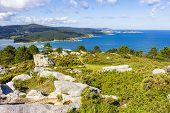 Beautiful View Of The Corme And Laxe Rivers From The Viewpoint Of Monte Blanco, Galicia, Spain poster