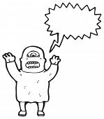 ogro gritando de desenhos animados