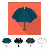 Vector Illustration Of Parasol And Autumn Logo. Set Of Parasol And Season Stock Symbol For Web. poster