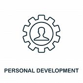 Personal Development Outline Icon. Thin Line Concept Element From Business Management Icons Collecti poster