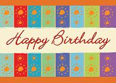 image of happy birthday  - Abstract vector happy birthday colorful greeting card - JPG