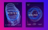 Trance Event. Dynamic Gradient Shape And Line. Futuristic Discotheque Cover Set. Neon Trance Event F poster