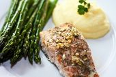 Fish, Asparagus and Potatoes