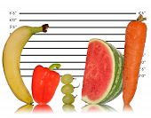Unique Healthy Eating Image Of Fruit On Police Id Line Up