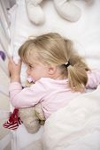 picture of goodnight  - Baby Girl in her bed at home - JPG
