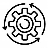 Assembly Gear Wheel Icon. Outline Assembly Gear Wheel Vector Icon For Web Design Isolated On White B poster