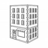 Vector Illustration Of Library And House Icon. Collection Of Library And Bank Stock Symbol For Web. poster