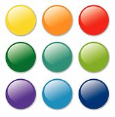 vector blank badges in nine pastel