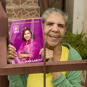 Woman Supporting Dominican Republican Candidate.