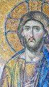 stock photo of halo  - One of the mosaics that adorn the hagia sofia mosque that are indeed a work of art - JPG