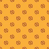 Red Return Of Investment Icon Isolated Seamless Pattern On Brown Background. Money Convert Icon. Ref poster