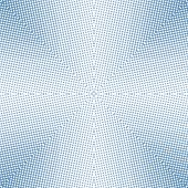 Soft Focus Halftone Blue Square poster