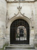 picture of poitiers  - Ornate carved medieval gateway in Poitiers - JPG