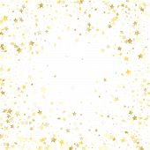 Flying Gold Star Sparkle Vector With White Background. Shiny Gold Gradient Christmas Sparkles Glitte poster