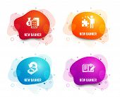 Liquid Badges. Set Of Accounting Wealth, Strategy And Cashback Icons. Engineering Documentation Sign poster