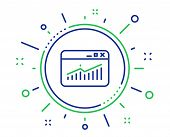 Website Traffic Line Icon. Report Chart Or Sales Growth Sign. Analysis And Statistics Data Symbol. Q poster