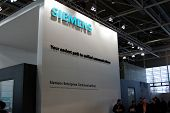 Hannover, Germany - March 10: Stand Of Siemens On March 10, 2012 In Cebit Computer Expo, Hannover, G