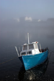 stock photo of claddagh  - fishing boat in galway city - JPG