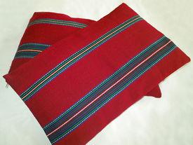 image of pillowcase  - Vintage pillowcase handwoven  - JPG