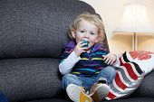 A Male Child On The Sofa