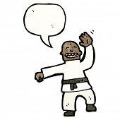 cartoon karate expert