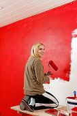 Girl With Paint Roller.