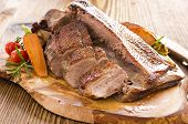 stock photo of barbary duck  - roasted duck breast fillet - JPG