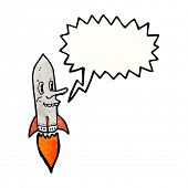 missile cartoon character