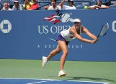 Four times Grand Slam champion Maria Sharapova practices for US Open