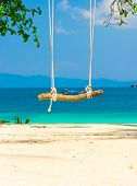 Serene Contemplation Seaside Swing