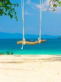 Serene Contemplation Seaside Swing
