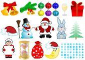Vector Illustration A Christmas Set