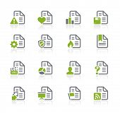 Documents Icons - 2 of 2 // Natura Series