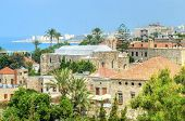 stock photo of crusader  - A view of the historic city of Byblos in Lebanon from the crusaders - JPG