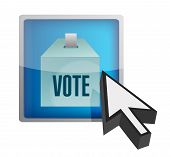 Vote Online Concept Illustration Design