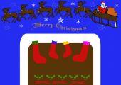 Christmas Stockings And Santa