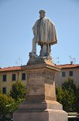 The statue of Giuseppe Garibaldi in Livorno, Italy