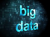 Information concept: Big Data on digital background