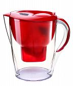 Red water filtration pitcher